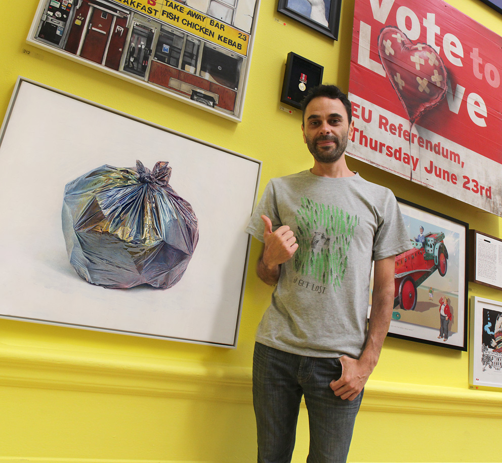 'Bin-Bag' painting ~ RA's Summer Exhibition