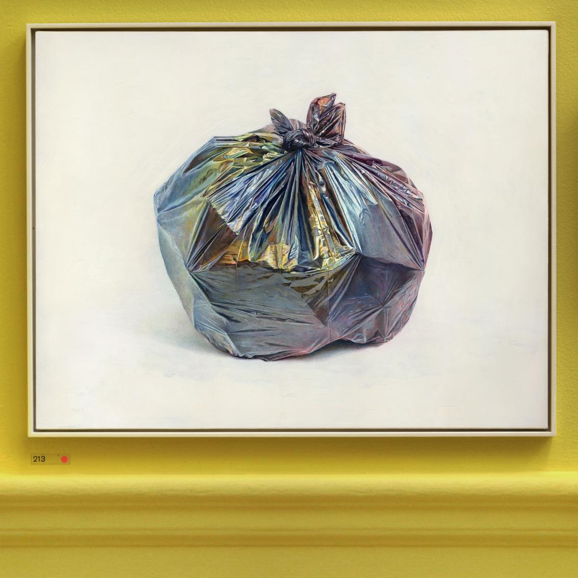 David Agenjo 'Bin-Bag' (2017) Oil on linen, 71x91cm